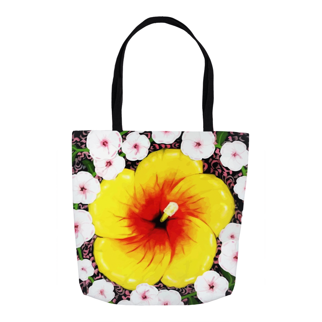 Faebella Carry-Bag feat. Nona Hibiscus Flower Artwork