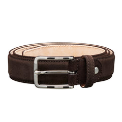 Suede Belt Dark Brown