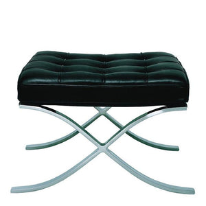 Barcelona Stool Inspired By Mies Van Der Rohe