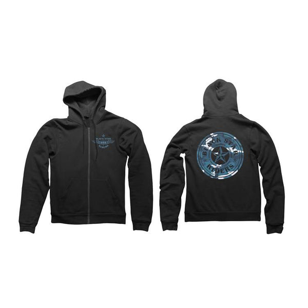 Blue Star Black Hoody