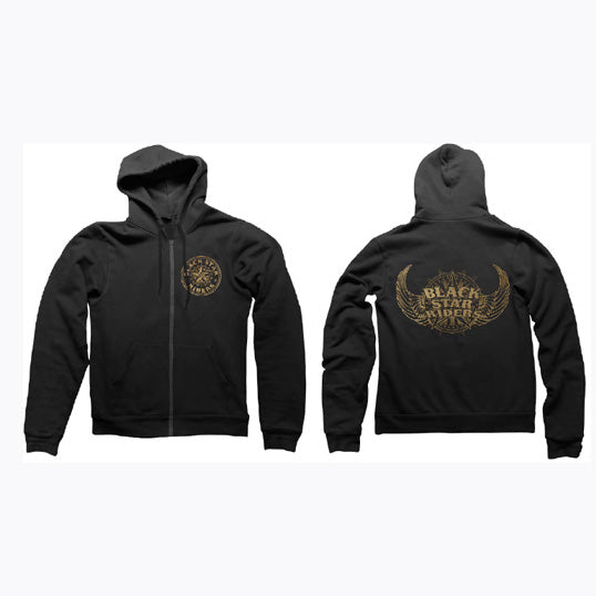 ANOTHER STATE ZIP HOOD BLACK