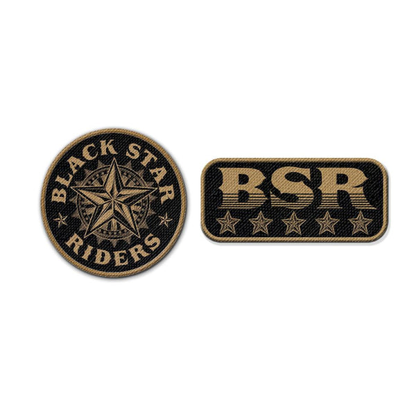 STAR AND LOGO PATCH SET (2 PIECE)