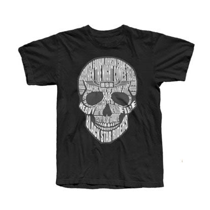 Skull Lyrics Black T-Shirt