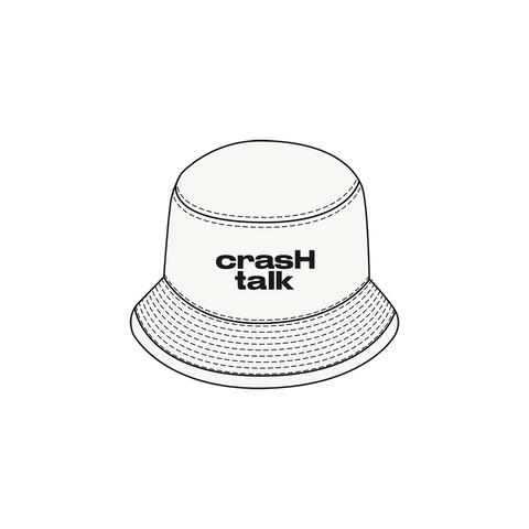 White Crash Talk Bucket Hat + Digital Album