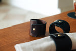 napkin ring, napkin holder, leather holder, leather ring, leather napkin