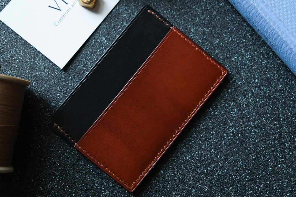 Load image into Gallery viewer, 'AGUSTO' CARDHOLDER - English Tan and Black - Vicus Pelle