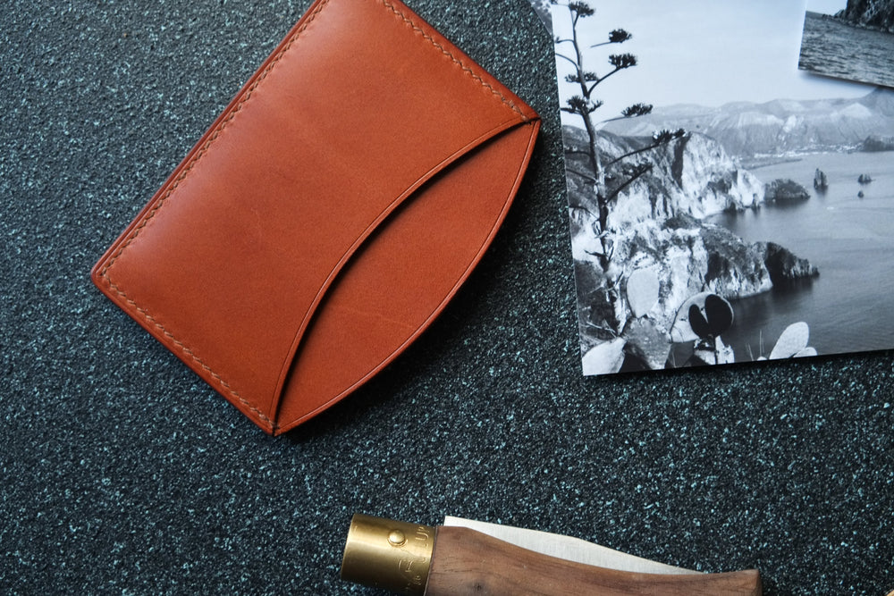 'ROCUL' CARDHOLDER - English Tan