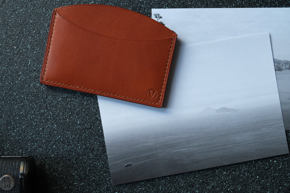 'ROCUL' CARDHOLDER - English Tan - Vicus Pelle