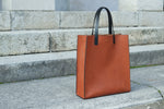 leather shopping bag, leather bag, leather tote bag, tote bag, shopper bag, leather handbag