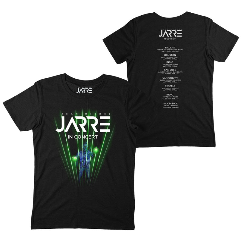 JARRE IN CONCERT NORTH AMERICAN TOUR BLACK T-SHIRT