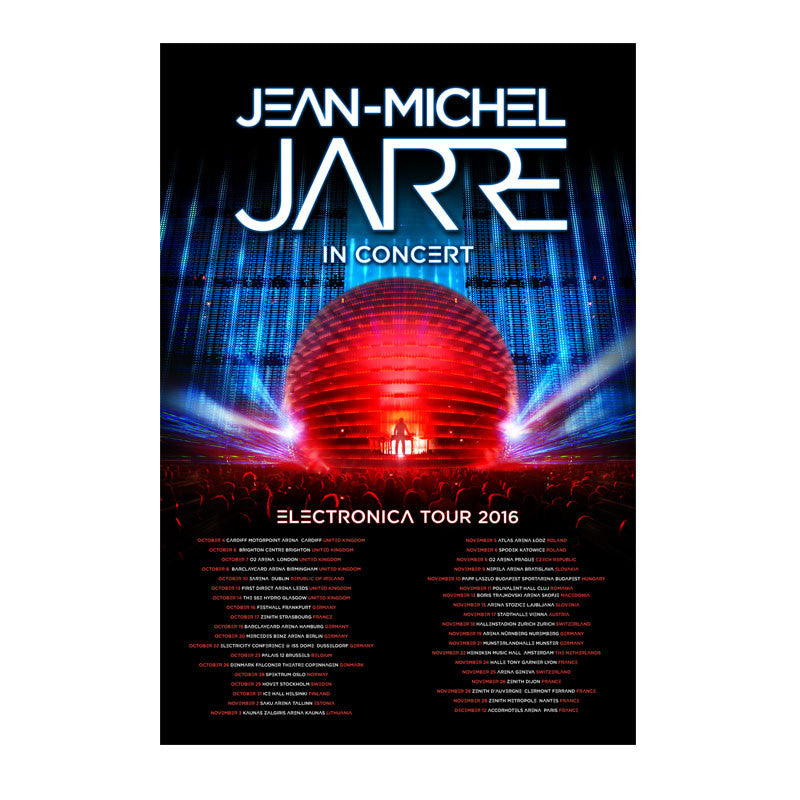 ELECTRONICA 2016 TOUR POSTER