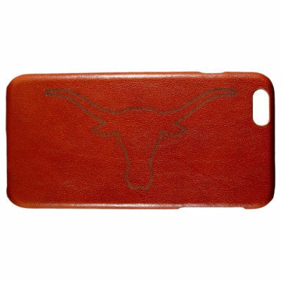 University of Texas Longhorns Genuine Leather Phone Case