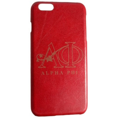 Alpha Phi Genuine Leather Phone Case