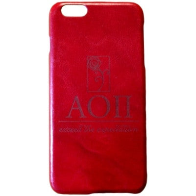 Alpha Omicron Pi Genuine Leather Phone Case