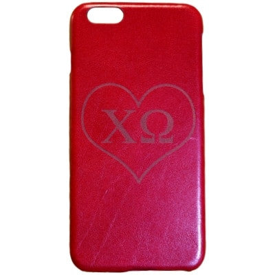 Chi Omega Genuine Leather Phone Case