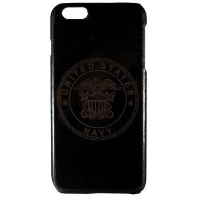 United States Navy Genuine Leather Phone Case