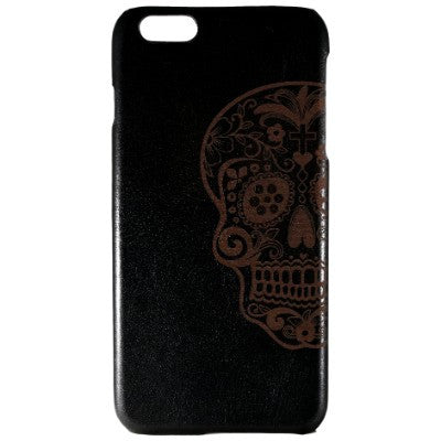 Sugar Skull Genuine Leather Phone Case