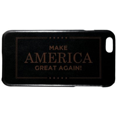 Make America Great Again Genuine Leather Phone Case