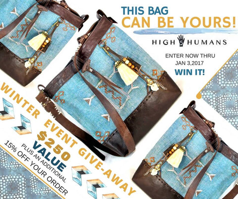 High 5 Humans Winter Event Give Away - Moroccan Messenger Bag