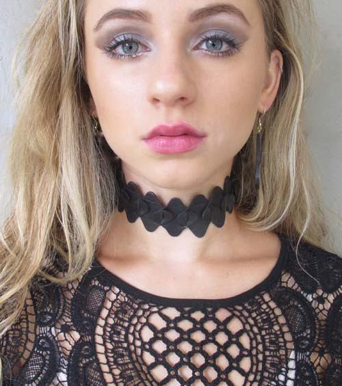Black Re-purposed Choker Necklace & Wrap Bracelet - Lula Mena - high5humans