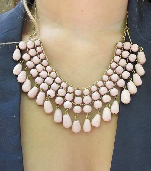 Blush Sand Glass Necklace - Mata Traders - high5humans