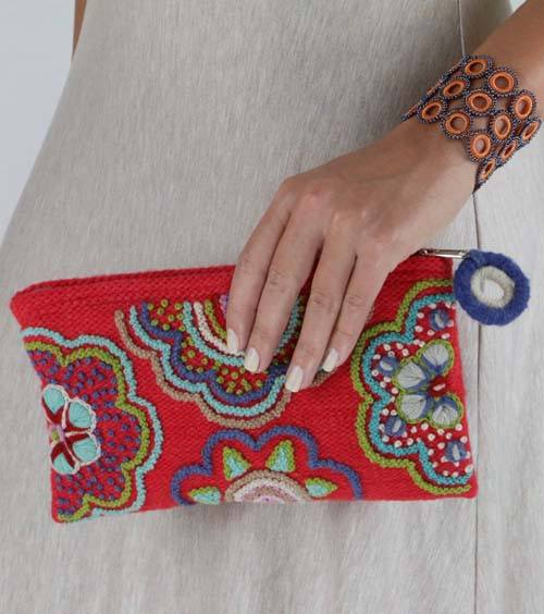 Coral Sausalito Clutch - Jenny Krauss - high5humans