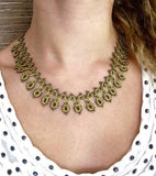 Gold Stands Silk Crochet Necklace
