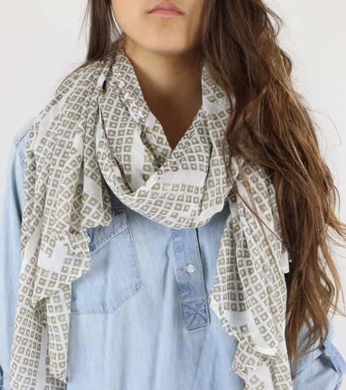Earthbound Diamond Cotton Scarf