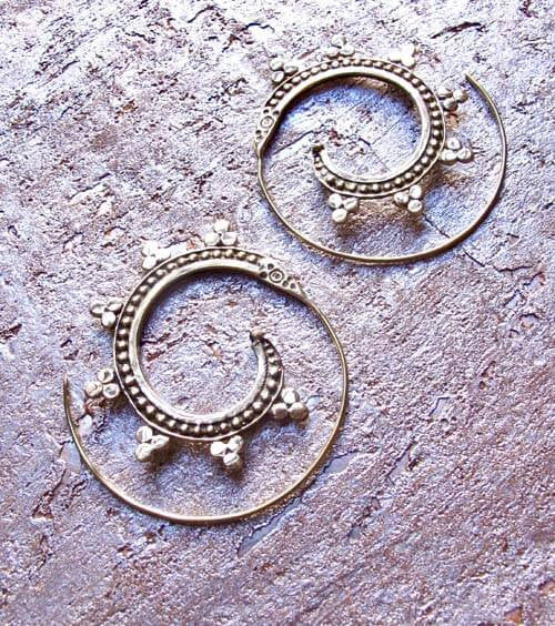 Etched Spiral Earrings