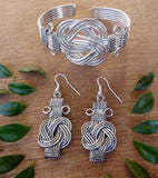 Knot of Hope Silver Plated Earrings