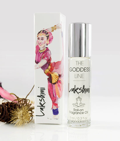 LAKSHMI FRAGRANCE – Goddess of Abundance - The Goddess Line - Roll-on Essential Oils