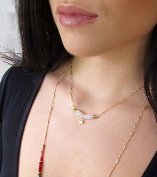 Moonstone Compass Necklace - Kris Nations - high5humans