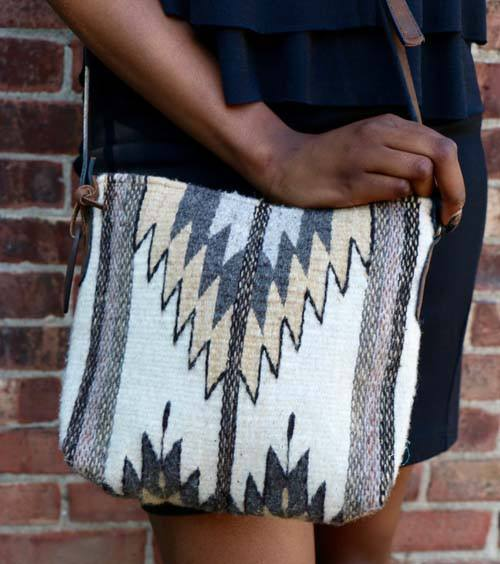 Natural Stone Chevron Crossbody Bag - Manos Zapotecas - high5humans
