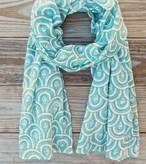 Peacock Teal Scarf - Passion Lilie - high5humans