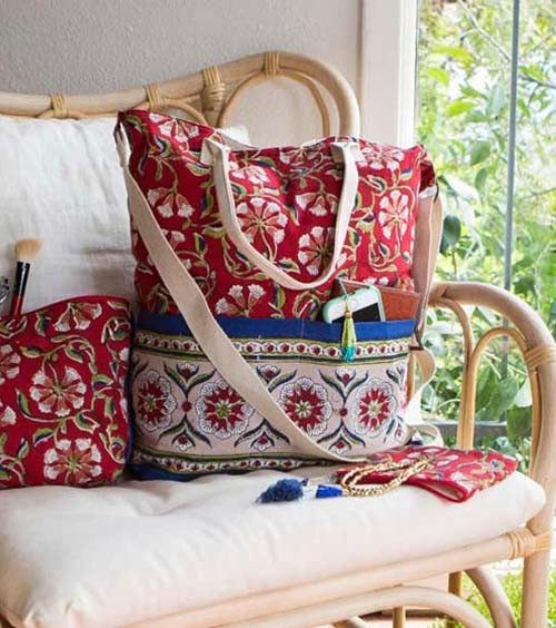 Red Moroccan Tote & Coin Purse - Marta Boomie - high5humans