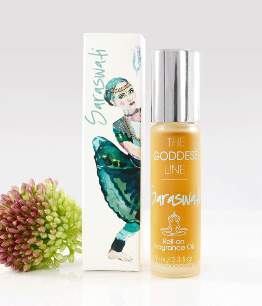 SARASWATI FRAGRANCE–Goddess of Knowledge -The Goddess Line Roll-on Essential Oils
