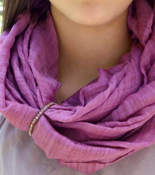 Plum Purple Scarf Cuff
