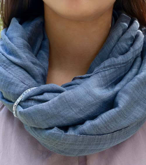 Smokey Denim Scarf Cuff
