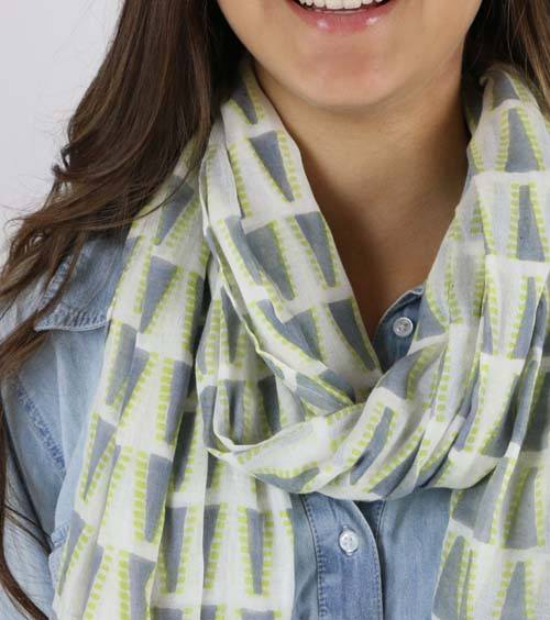 Soft Grey Nomad Cotton Scarf - Gray Market - high5humans