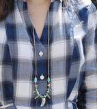 Sundance Long Horn Necklace