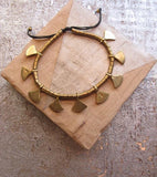 Boho, tribal, brass bracelet, fair trade