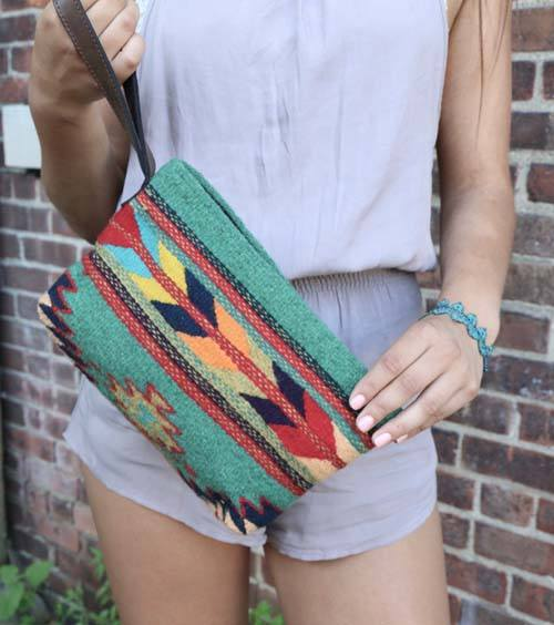 Tribal Sage Arrow Clutch - Manos Zapotecas - high5humans
