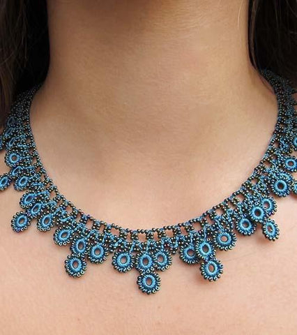 Turquoise Chic Crochet Necklace