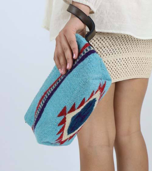 Turquoise Horizon Clutch - Manos Zapotecas - high5humans