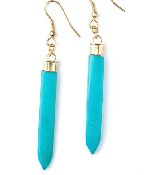 Turquoise Horn Earrings - Mata Traders - high5humans