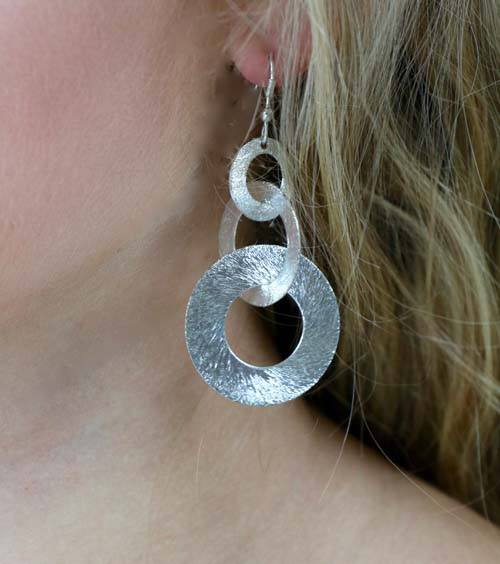 Unity Circle Silver Earrings - Marta Boomie - high5humans