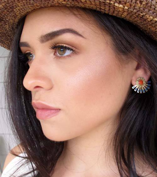 Warm Burst Stud Earrings
