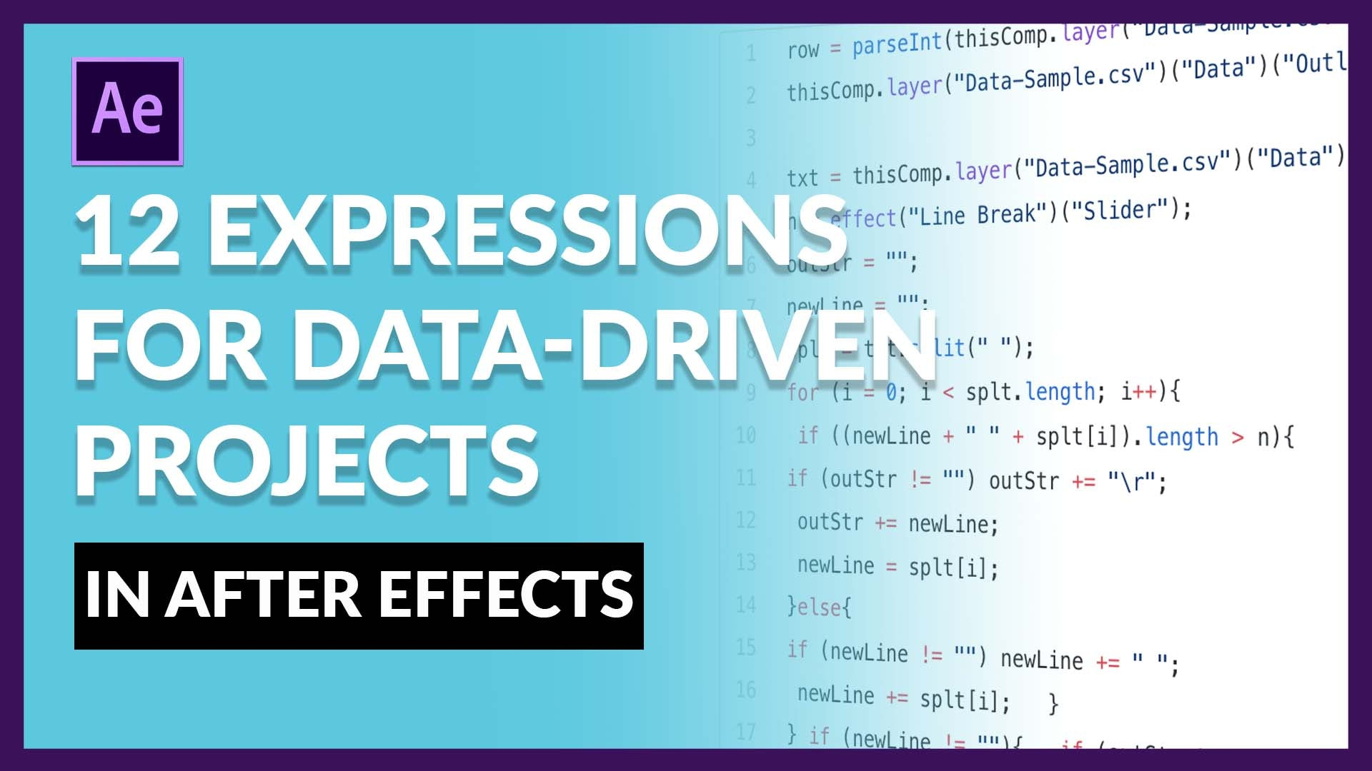 Data-Driven Expressions for After Effects 2019