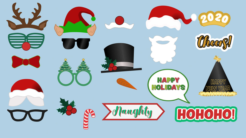 Holiday Christmas Photo Booth Props After Effects template