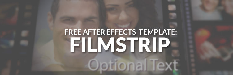 free filmstrip slideshow after effects template
